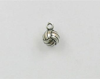 Sterling Silver 3-D Volleyball Charm