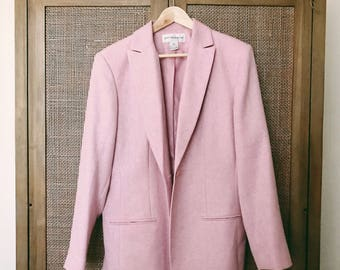 Vintage Jones New York Light Pink Blazer Jacket