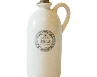 Vintage Country Cottage Ceramic Vinegar Bottle