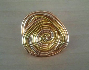 Almond aluminum ring