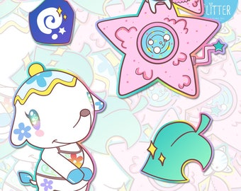 Tia, Kiki and Lala Cloud Maker, New Leaf Animal Crossing Holographic Sticker