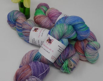 Baby Unicorn: Hand Dyed Yarn, Sock Yarn, Hand Dyed Sock Yarn, Shawl Yarn, DK, Light Worsted, Merino, 100gms