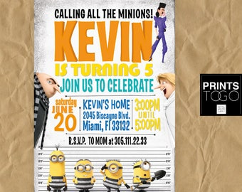 Despicable Me 3 Invitation, Minion Invitations, Minions Birthday, Despicable Me, Gru Invite, Dru Invite, Despicable Me Printables, Minions 3