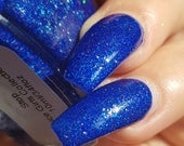 Stoppen! ~ Spice Girls collectie saffier blauw Jelly Holo UCC Flakies 10ML