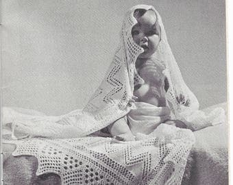 Vintage knitting pattern  Beehive Baby Book - original pattern not PDF, for first 6 months, Bootees, Shawls, Cardigans, Sleep Bag