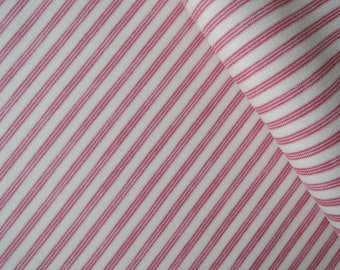 "Fat Quarter of Tone Finnanger Tilda Quilt Collection Rough Stripe Red Fabric. Approx. 18"" x 22"""