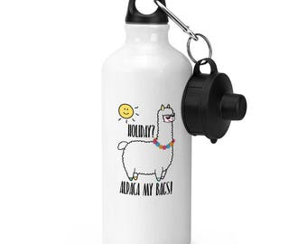 Holiday Alpaca My Bags Sports Bottle