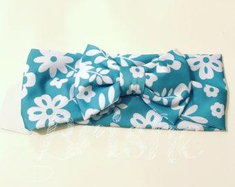 Headband flowers toddler stretch fabric