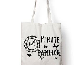 """Shopping bag, bag of course """"minute Butterfly"""""""
