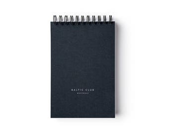 """Pine Notebook  – Spiral binding – 4"""" x 6"""" – Ruled pages"""