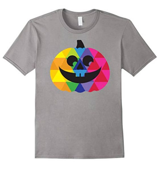 Happy Pumpkin T-shirt - Colorful Halloween Apparel - Unique Jack O'Lantern Tee - Halloween Gifts for Him or Her - Trick or Treat