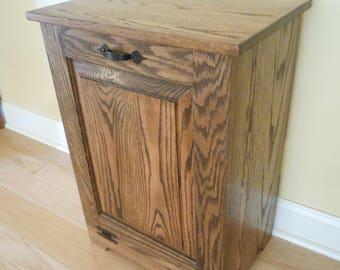 Wood trash bin | Etsy