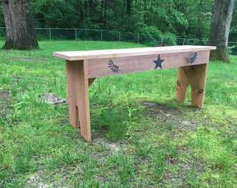 Wooden display bench