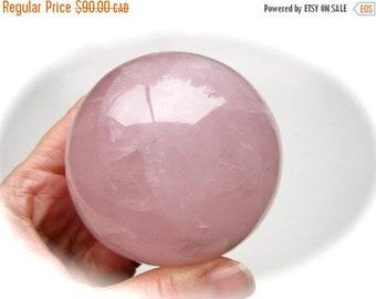 ONSALE Rainbow Rose Quartz Carved Crystal Sphere Ball 74mm 545g