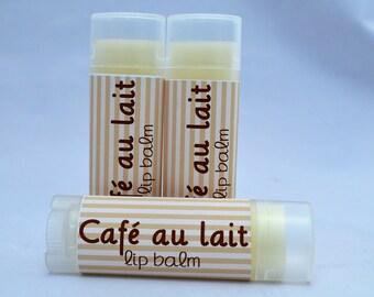 Café Au Lait Lip Balm, Café Au Lait  Chapstick, Café Au Lait Lip Butter, Coffee And Cream Lip Balm, Lip Moisturizer, Organic Lip Balm