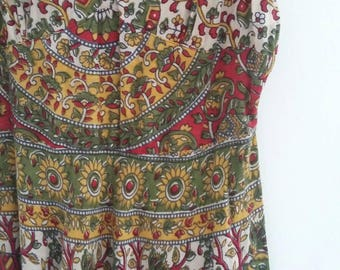 Vintage indian print dress