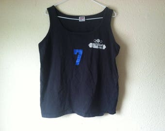 S/M 80s PDX Velodrome tank top black t shirt tee sleeveless S M small medium XS extra small bike bicycle cycling fixed gear racing cyclist
