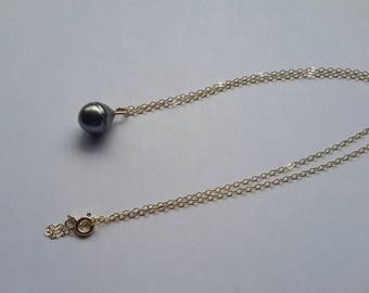14k GF necklace with Tahitian pearl pendant