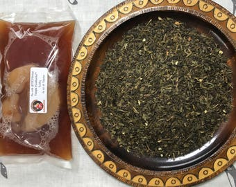 Kombucha Scoby and Tea Sale -  Starter and Tea Special. 6 oz of Tea and 16 oz of Starter + Scoby