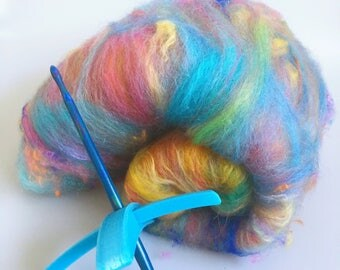 Turkish Spindle Kit with hand dyed art batt
