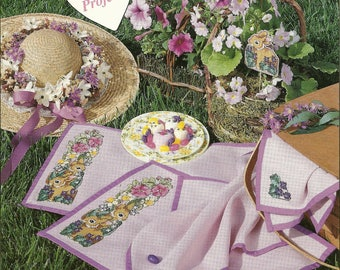 Heartsong Table Linens and Garden Fresh Cross Stitch Charts