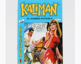 Kaliman El Hombre Increible No 87 El Asesino Invisible Revista en Español Spanish Comic RARE