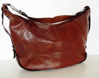 Vintage leather bag.90s Italian leather Bag