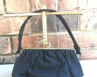 1950's Black Evening Bag