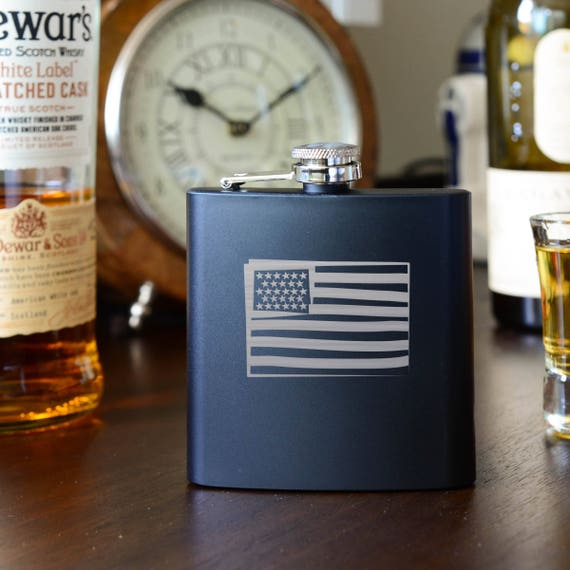 American Flag flask | Patriotic flask | USA gift | US gift | unique flask | flag flask