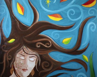 Windy Day Acrylic on Canvas Original Painting