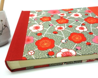 "Wedding guest book - photo Album with Japanese paper ""Samurai"" - guestbook for wedding, birthday..."