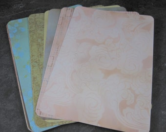 Coordinating Cardstock 4x6 Photo Mats Lot of 24 Floral Asian Themed