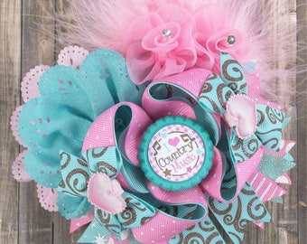 I love country music! Over the top hair bow