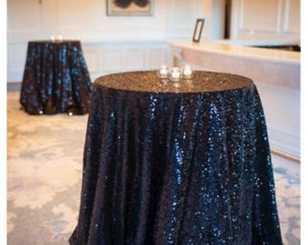 black sequin wedding tablecloth 72 inch round polyester sequin cloth shiny sequin quality tablecloth for