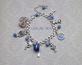 """bracelet """"alice aux pays des merveilles"""" bleu"""