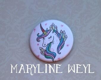 Rainbow Unicorn pin badge