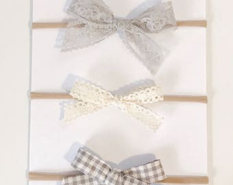 NATALIE- Hand tied bows