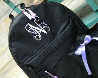 Monogrammed backpack, monogrammed lunch box, lunch tote personalized backpack
