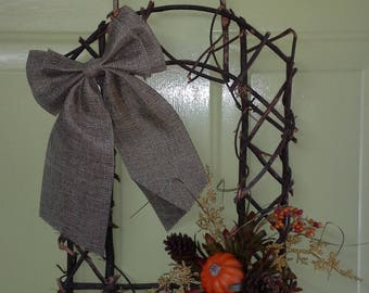 Frame Style Grapevine Fall Wreath