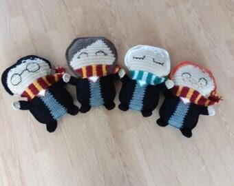 Harry Potter Inspired Rag Dolls Harry Potter Hermione Granger Draco Malfoy Ron Weasley
