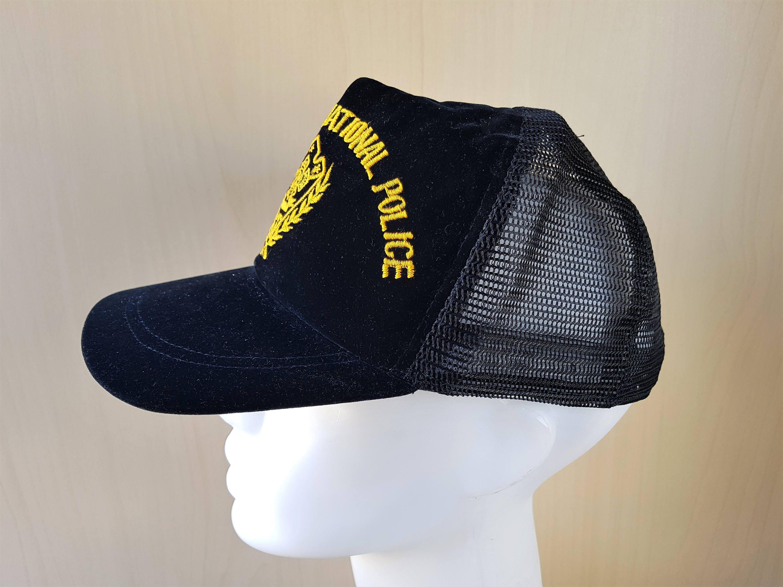1687eb2247c Intergrated National Police Force Rare Defunct INP Filipino Officer Cap  Original Vintage 70s Philippines Black Velvet