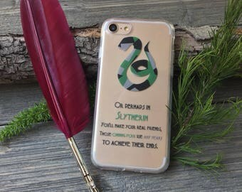 Slytherin iPhone Case, Your choice of Soft Plastic (TPU) or Wood