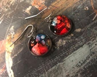 Red earring #1