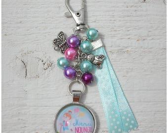 "Bag charm ""Thank you nanny"" (gift for a nanny who tear)"