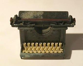 Vintage die-cast Pencil sharpener old time typewritter