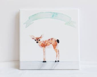 "Oh Deer 8""x8"" Canvas"