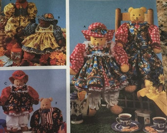 Simplicity Crafts Pattern 7222 BEARS BEARS BEARS and clothing for all
