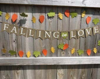 Falling in Love Banner, Fall Bridal Shower, Fall Shower, Fall Bridal Shower Banner, Falling in Love, Fall Wedding Banner, Fall Banner