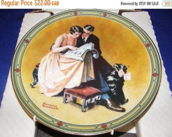 """Winter Clearance Vintage NORMAN ROCKWELL'S 1985 American Dream """"A Couple's Commitment"""" With Coa"""