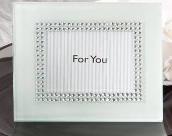 Bling Collection White Photo Frame Place Card Holder - Wedding Bridal Shower Party Favor 12-100 Qty   4167